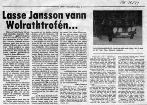 RALLY-Wolrathtrofén 1977 Idrottsbladet003